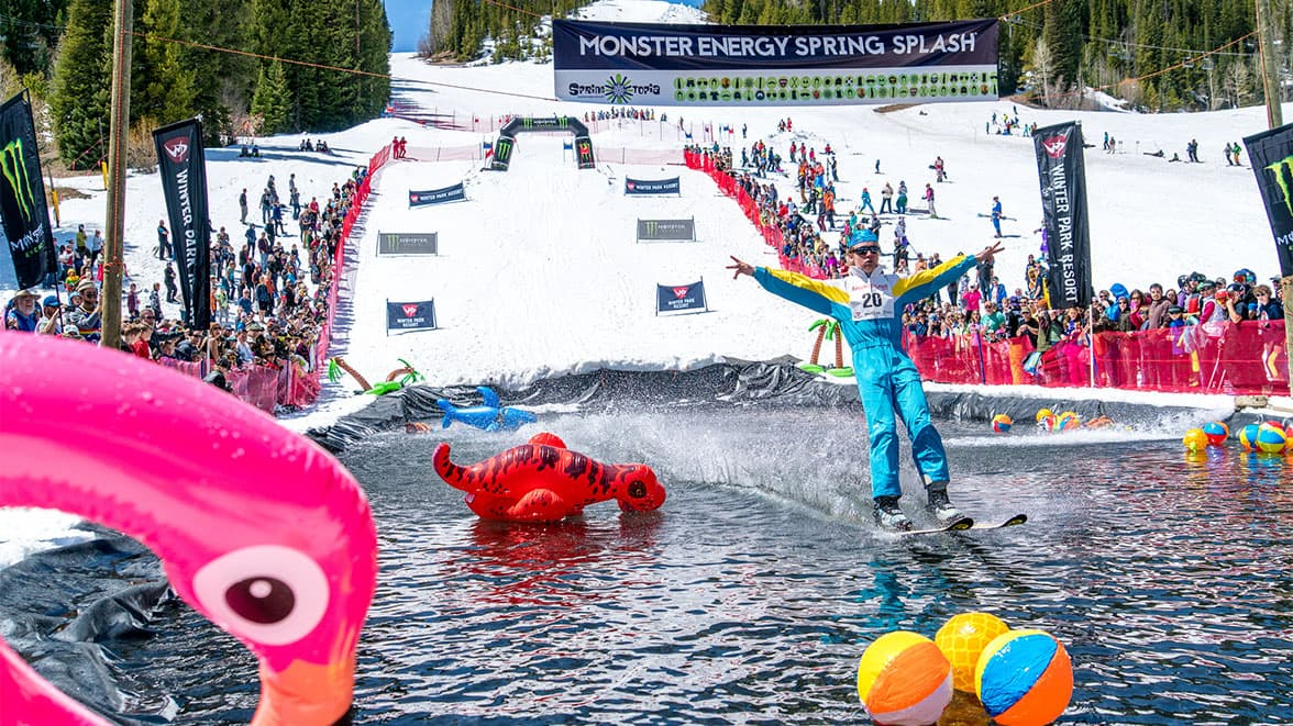 Spring splash pond skim