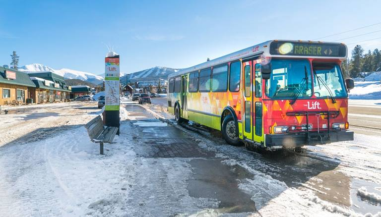 Take the Local Shuttle at Winter Park
