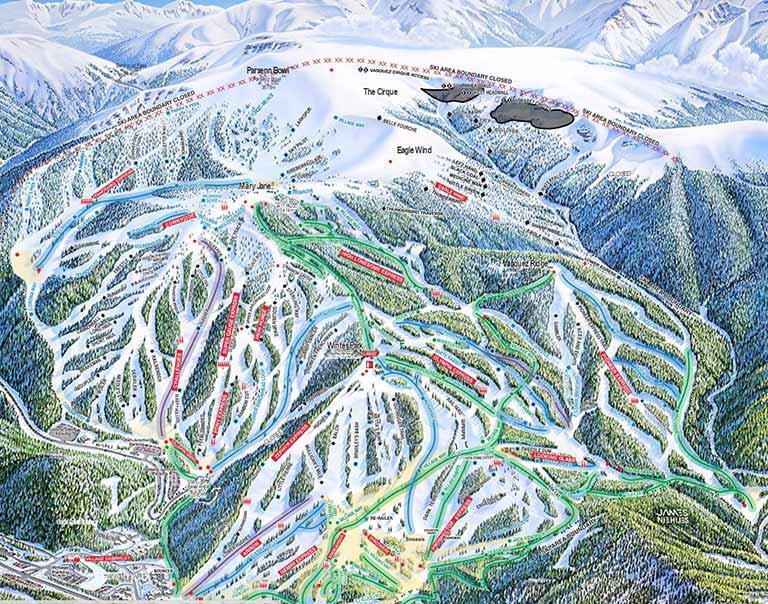 Ski Area Colorado Map.Trails And Maps