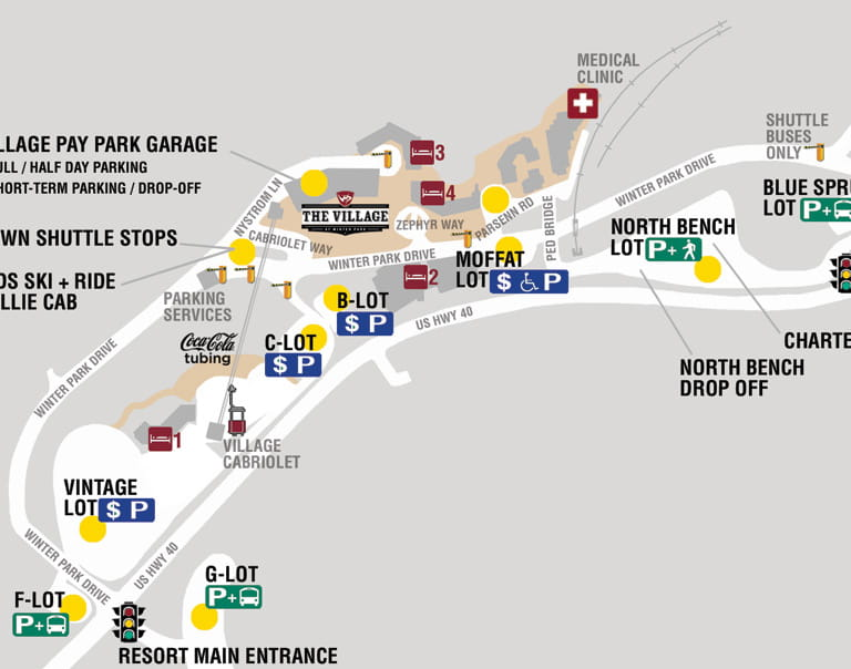 Base Area Parking Map