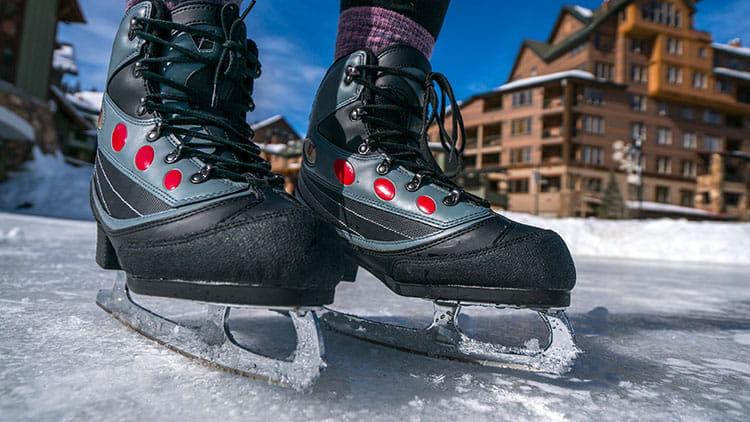 Ice Skating At The Base Of Winter Park Resort